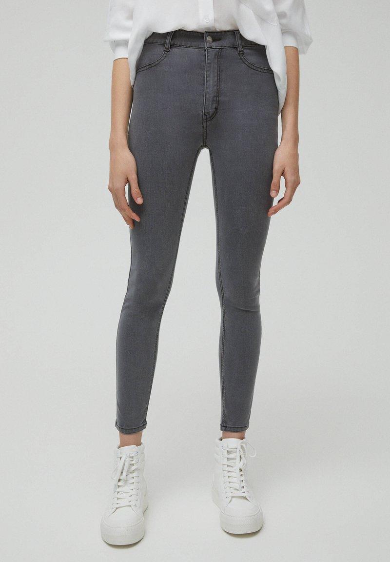 PULL&BEAR - SKINNY - Jeans Skinny Fit - dark grey
