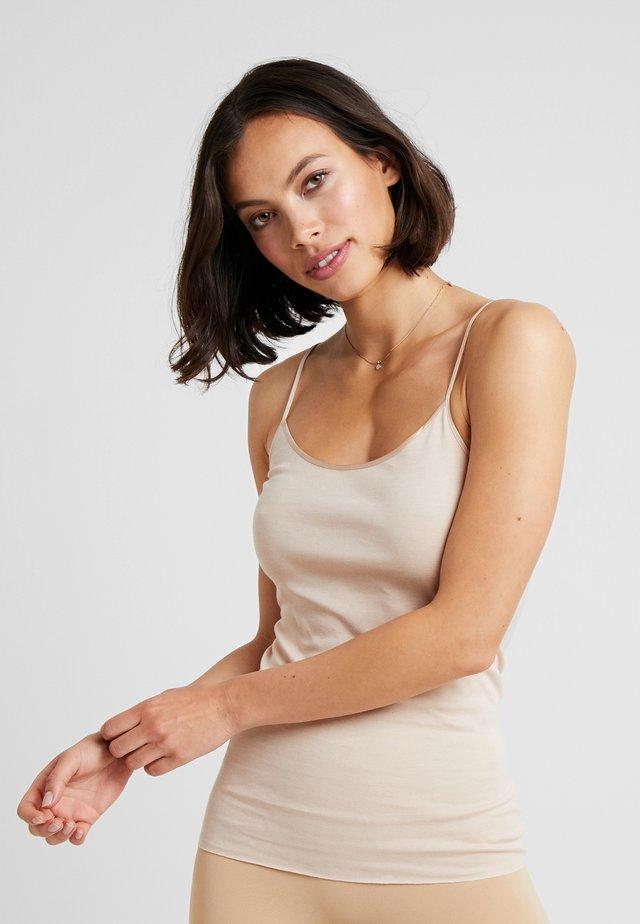 SEAMLESS SPAGHETTI TOP - Undershirt - beige