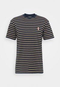 STRIPED - Print T-shirt - navy-mel