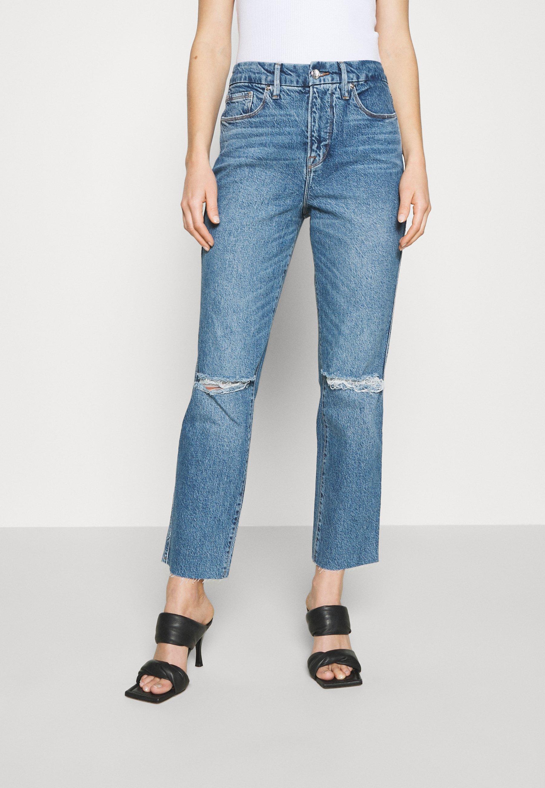Women GOOD CURVE STRAIGHT RAW HEM - Straight leg jeans