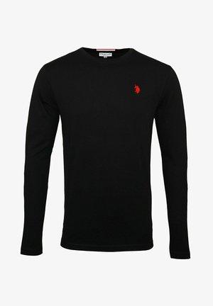 LONGSLEEVE MIT RUNDHALSAUSSCHNITT R-NECK - Bluzka z długim rękawem - schwarz