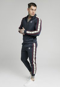 SIKSILK - PREMIUM TAPE CUFFED PANT - Tracksuit bottoms - navy - 1