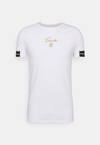 EXPOSED TAPE RAGLAN GYM TEE - T-shirt basic - white