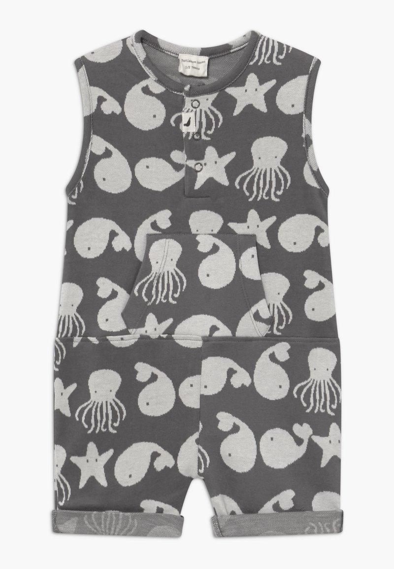 Turtledove - SEA FRIENDS SHORTIE TANK BABY - Overal - grey/white