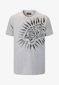 Ed Hardy - TIGER-LIGHTNING T-SHIRT - Print T-shirt - grey - 0