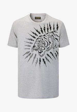 TIGER-LIGHTNING T-SHIRT - Print T-shirt - grey