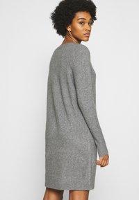 ONLY - ONLELENA DRESS - Jumper dress - medium grey melange - 2