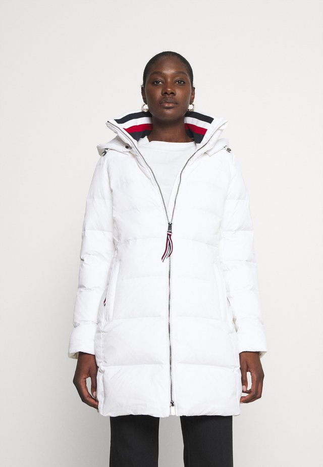 GLOBAL STRIPE COAT - Płaszcz puchowy - classic white