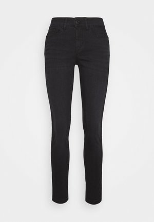 EMILY SNAKE TAPE - Jeans Skinny - coal black