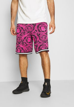 DRY DNA SHORT PRINTED - Pantaloncini sportivi - black/fireberry/white