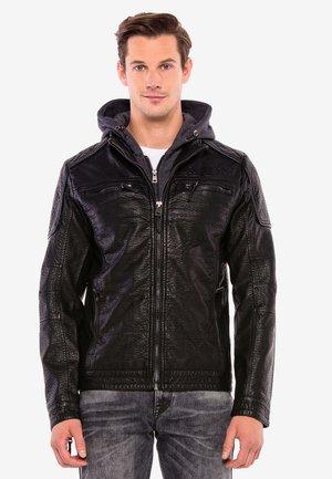 BIKER-LOOK - Faux leather jacket - schwarz