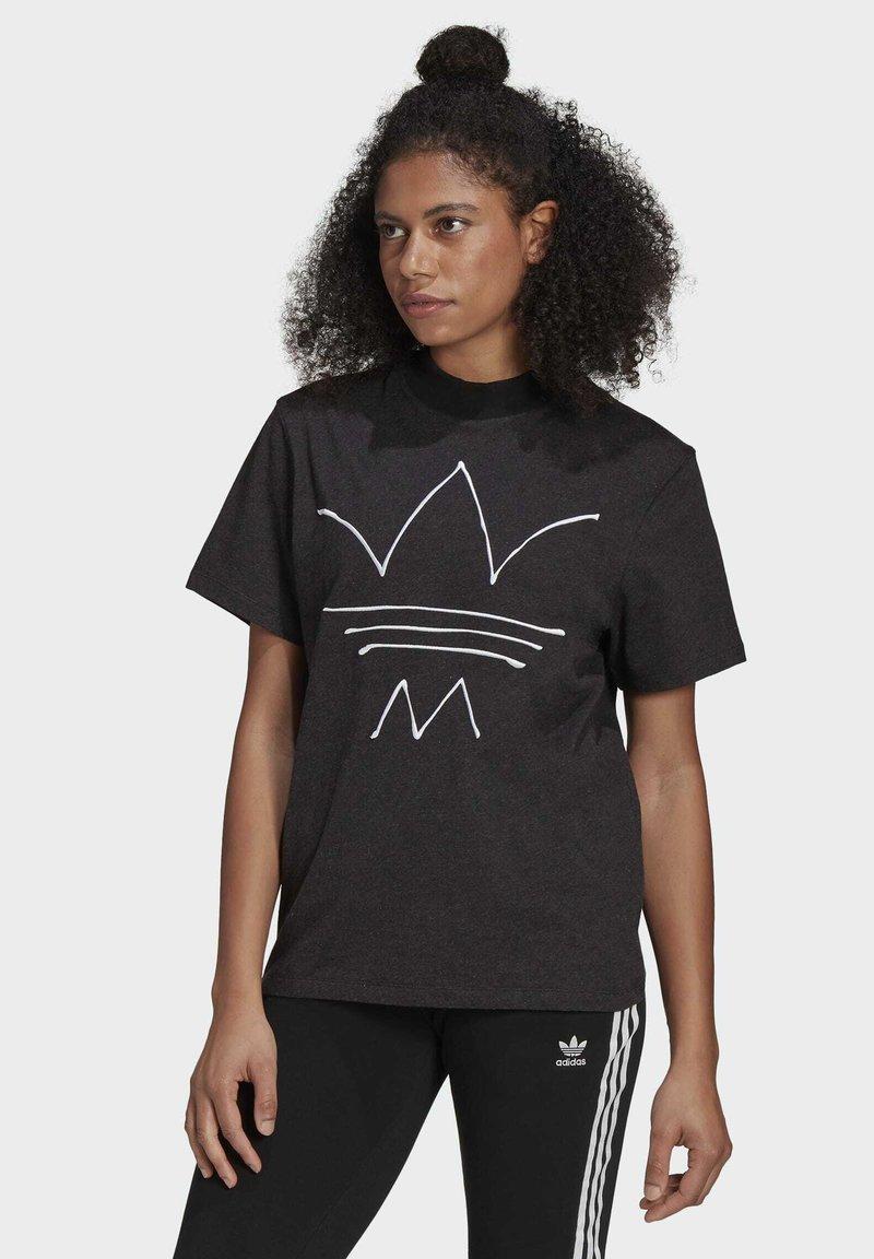 adidas Originals - TEE - T-shirt print - black melange