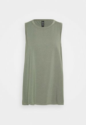 LONGLINE SPLIT HEM TANK - Top - steely shadow