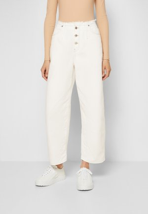 PANTS 5 POCKETS - Relaxed fit -farkut - off-white