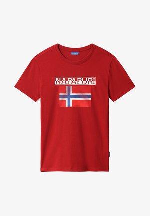 S-SURF FLAG - T-shirt med print - old red