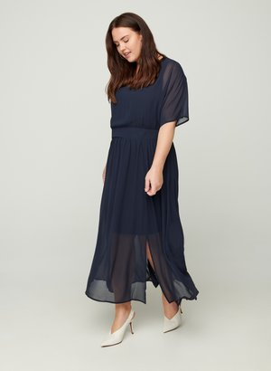 MIT SMOCK UND KURZEN ÄRMELN - Maxi dress - dark blue