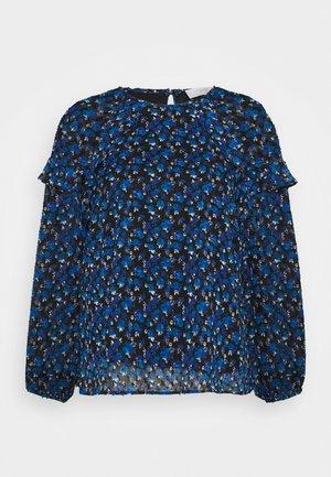 DITSY RUFFLE DOBBY - Blouse - blue