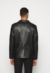 STUDIO ID - VINCENT LEATHER BLAZER - Kožená bunda - black - 2