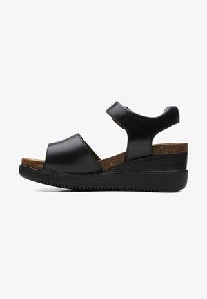 LIZBY STRAP - Platåsandaletter - black leather