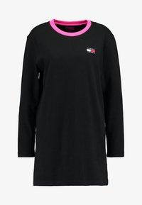 Tommy Jeans - CONTRAST DRESS - Jerseykjole -  black - 5