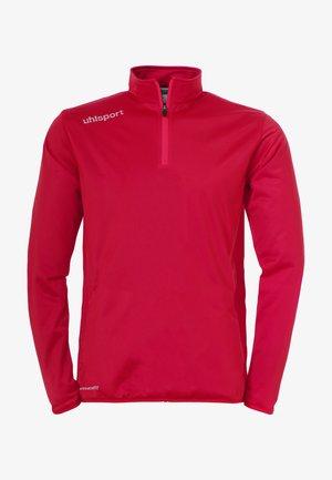 Langarmshirt - rot / weiß