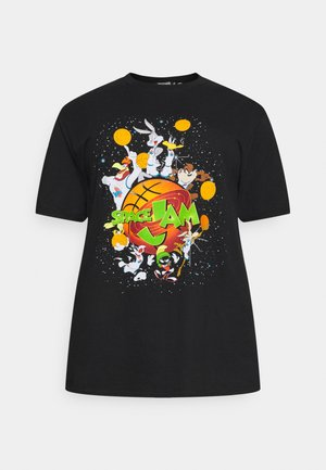 SPACE JAM BASKETBALL - Print T-shirt - black