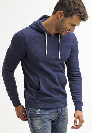 Hoodie - dark blue melange