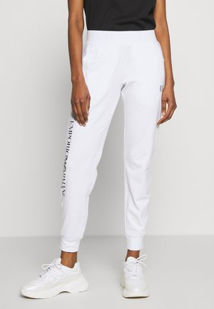 TROUSER - Pantalon de survêtement - white/navy