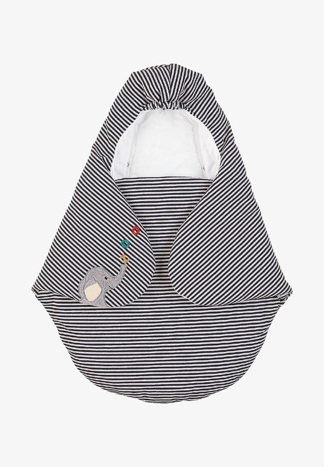 KUSCHELZOO EINSCHLAGDECKE - Baby's sleeping bag - black