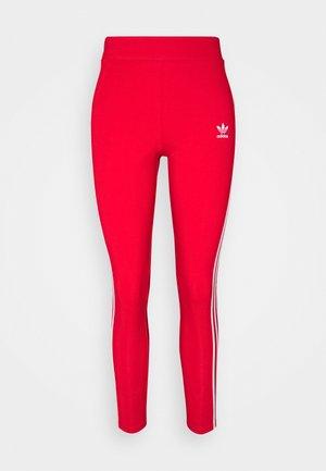 STRIPES COMPRESSION - Leggings - red