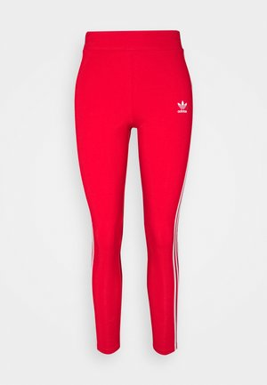 STRIPES COMPRESSION - Leggings - Trousers - red