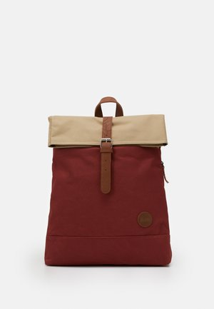 FOLD TOP BACKPACK - Reppu - rust/khaki top