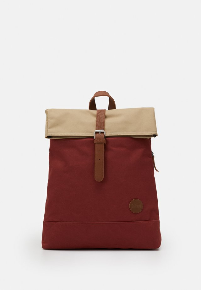 FOLD TOP BACKPACK - Rucksack - rust/khaki top