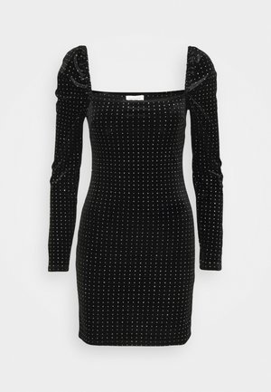 STUDDED MINI - Vestido informal - black