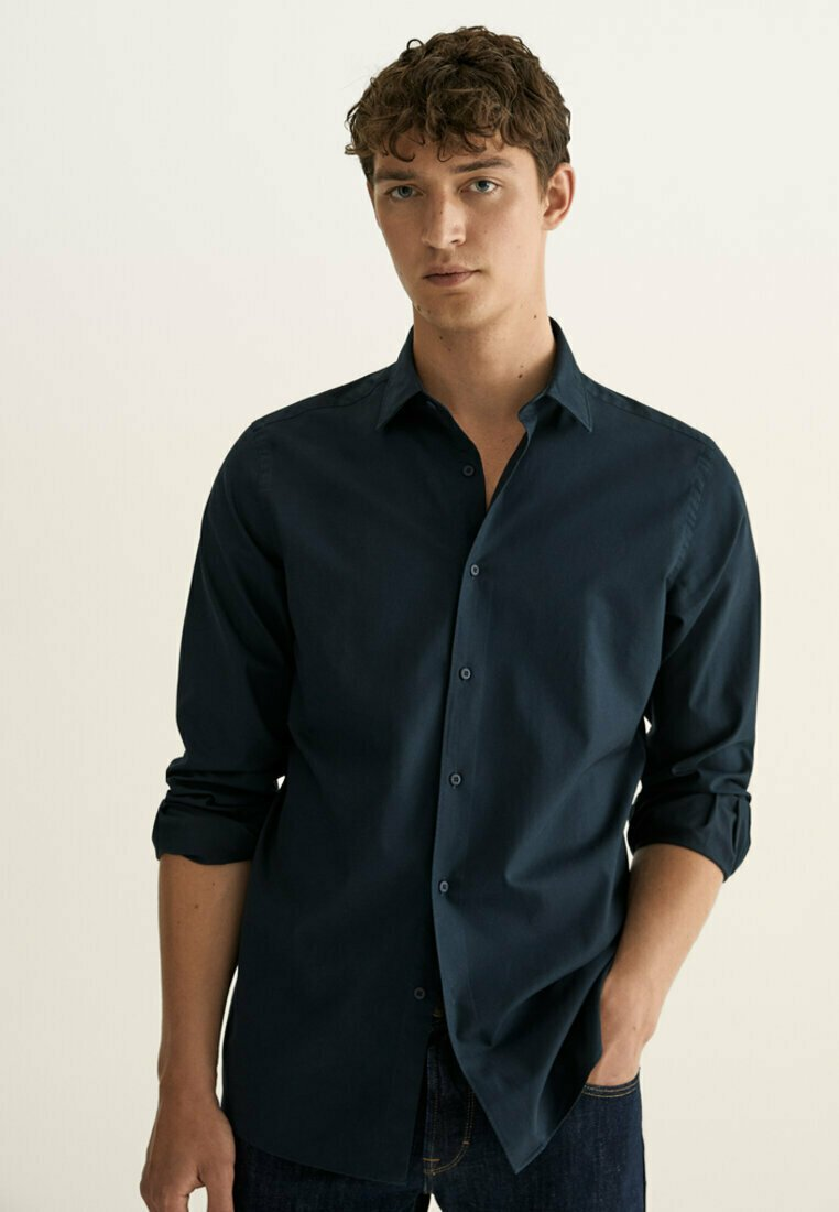 Massimo Dutti - SLIM FIT - Shirt - blue