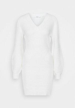 SLEEVE MINI DRESS - Robe pull - white