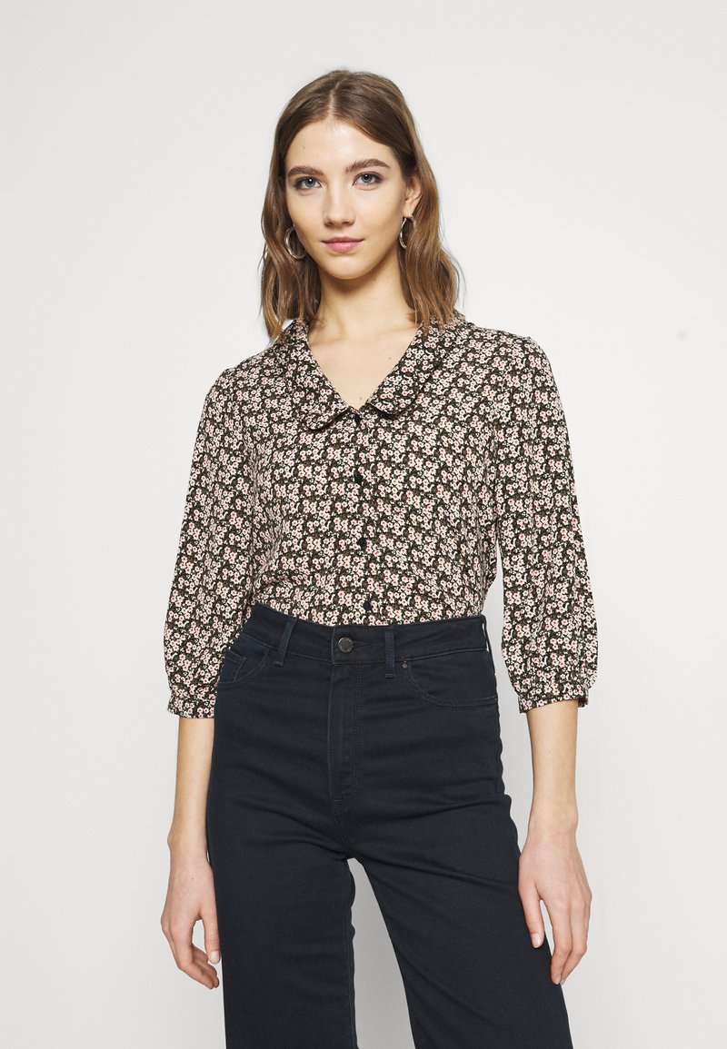 Vero Moda - VMSIRI 3/4 COLLAR SHIRT  - Blouse - black
