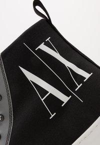 Armani Exchange - Sneakersy wysokie - black icon - 5