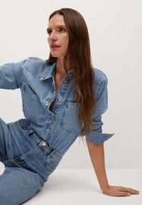 Mango - NEWMOM - Straight leg jeans - bleu moyen - 5