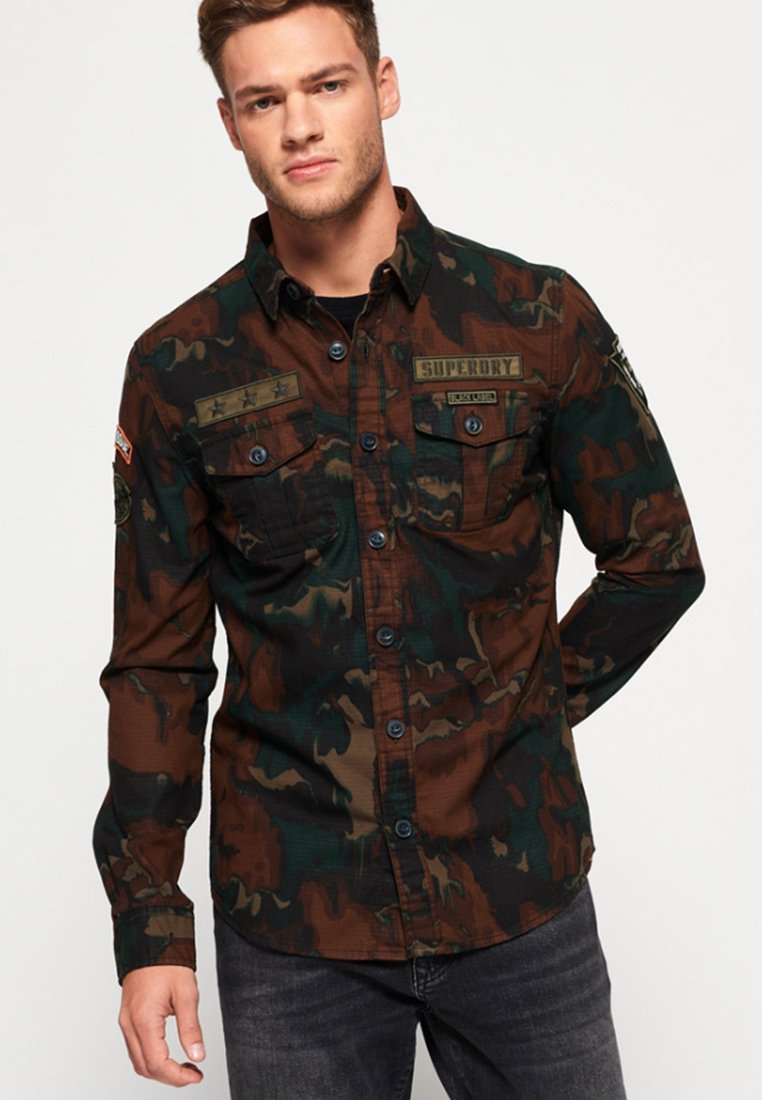 Superdry - MILITARY STORM - Shirt - brown