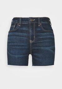 SHORTIE - Denim shorts - dark blue