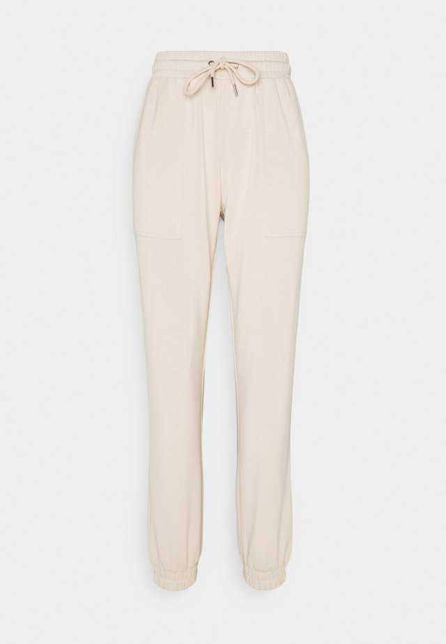 BYPUSTI PANTS - Tracksuit bottoms - cement