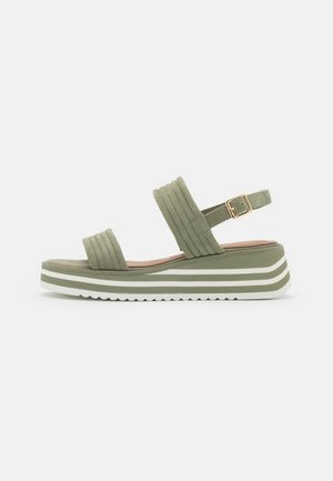 Platform sandals - pistacchio