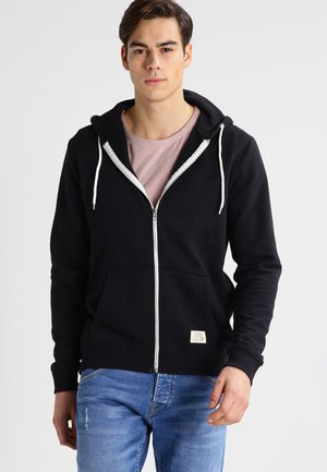 REGULAR FIT - Mikina na zip - black