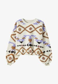 PULL&BEAR - Fleece jumper - white - 5