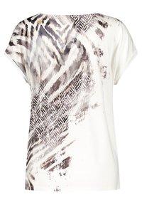 Gerry Weber - T-shirt imprimé - ecru schwarz sahara druck - 1