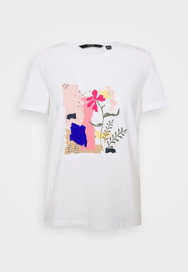 VMHELAOLLY BOX - Print T-shirt - snow white