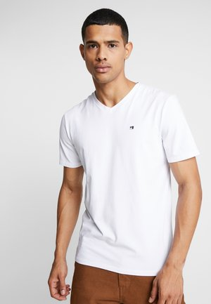 V-NECK TEE - Basic T-shirt - white