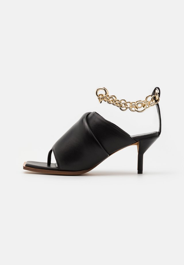 GEORGIA PADDED MULE CHAIN - Teensandalen - black