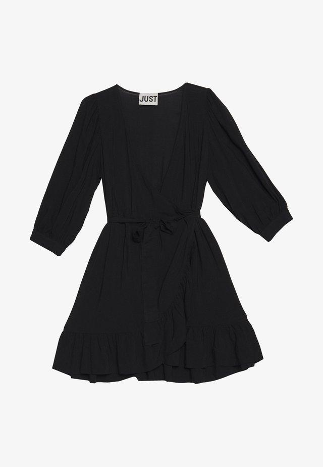 ELLERY WRAP DRESS - Hverdagskjoler - black